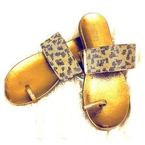 Kenneth Cole ~ Rhinestone Leopard 🐆 Sandals 👡 💎